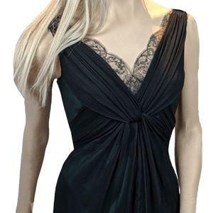 Elie Tahari Womens Black Chiffon Dress Size 8